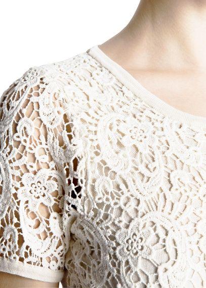 blusas en guipur cortas - Buscar con Google