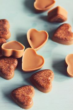 Healthy Dog Treats made with Cinnamon, peanut butter and coconut.