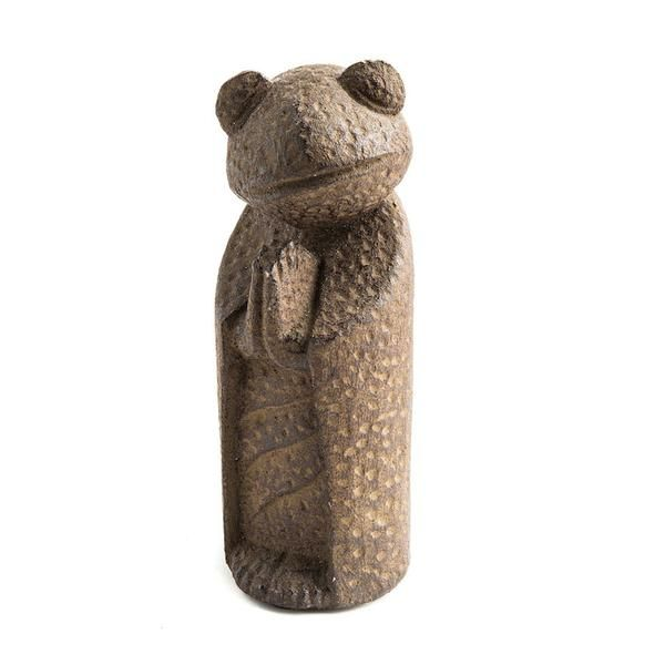 Namaste Frog Sculpture