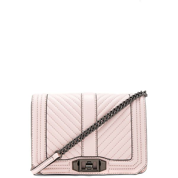 Rebecca Minkoff Chevron Quilted Small Love Crossbody Bag (11.150 RUB) ❤ liked on Polyvore featuring bags, handbags, shoulder bags, handbags crossbody, rebecca minkoff crossbody, crossbody shoulder bag, leather purses and white leather shoulder bag