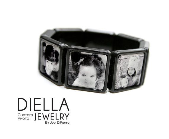 Mothers Day Photo Bracelet Mom Personalized by DiellaJewelry, $50.00