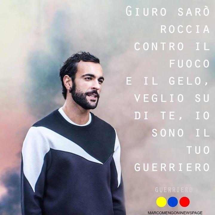 Marco Mengoni Guerriero ... Io veglio su di te, io sono il tuo guerriero #MarcoMengoni #Guerriero #paroleincircolo #frasi #testi #canzoni #musica