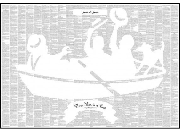 Three Men in a Boat - Book Poster - http://spinelessclassics.com.au/three-men-in-a-boat-book-poster