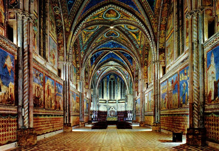 basilica superiore di AssisiPlaces Travel, Italy Trips, Favorite Places, Papal Basilica, Assisi Italy, St Francis, Art, Basilica Interiors, Little Spaces