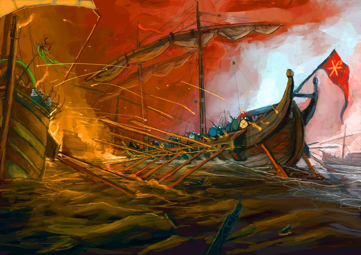 Battle of Phoenicus, Finike or Battle of Masts was a crucial naval battle fought between muslim Rashidun caliphate and Byzantine empire in 655. Significant damage on both sides later thrown shadow on byzantine navy and military defences, slowly leading to emperor´s power decay in next centuries.