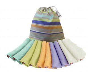 Myjki bambusowe Close Parent 10 szt pastelowe kolory Toddlersi