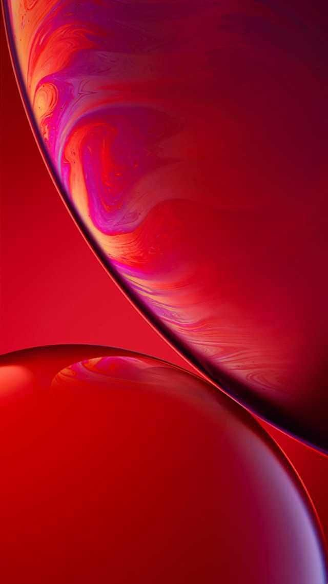 iPhone XR Red Wallpaper (notchless) Fondo de pantalla