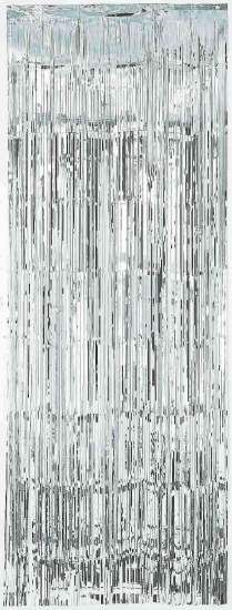 Silver Metallic Curtain | 8' for $7.50 in Metallic Decor - Party Decorations - Party Supplies