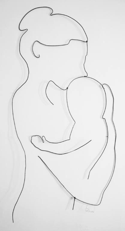 Maternity, David Bertran wire art