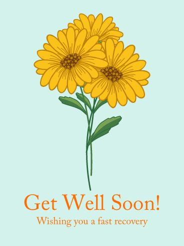 Orange Flower Get Well Card: Sending a get well card will bring positive energy to people. A card tells others how much you care. Let's wish your loved ones a fast recovery by sending a get well card with your warm and thoughtful message.