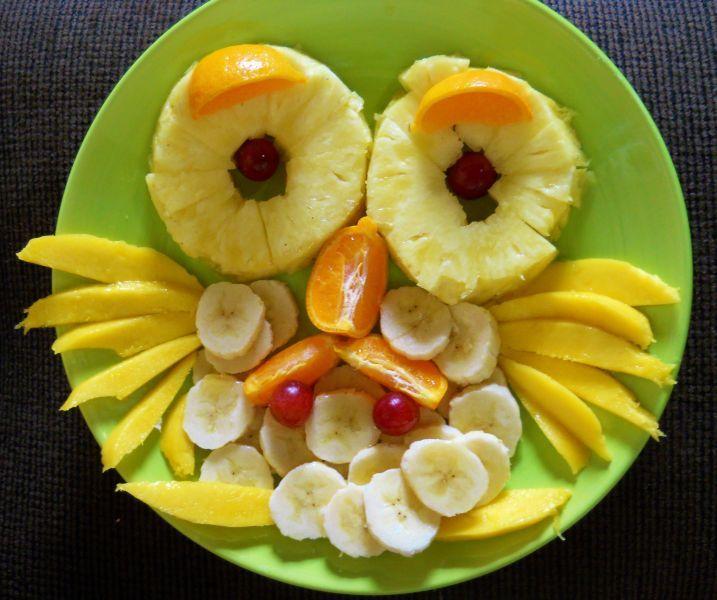 Barn owl fruit plate via 14 food art for Food bar owl