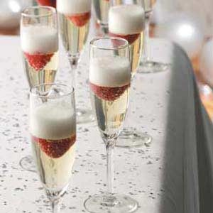 Jellied Champagne Dessert Recipe - Would be cute for New Years or Valentine's Day