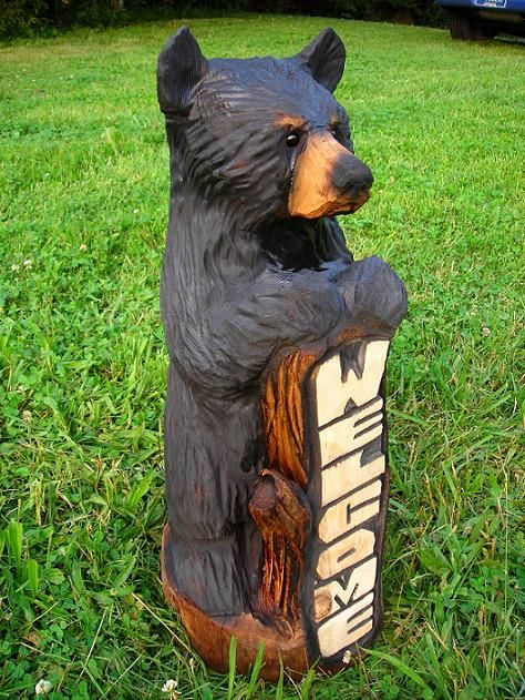 Bästa chainsaw carvings idéerna på pinterest