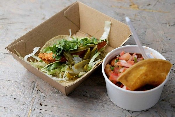 Mexican snacks from Super Taco at Welcome to Thornbury.  From Good Food's Summer Bucket List.