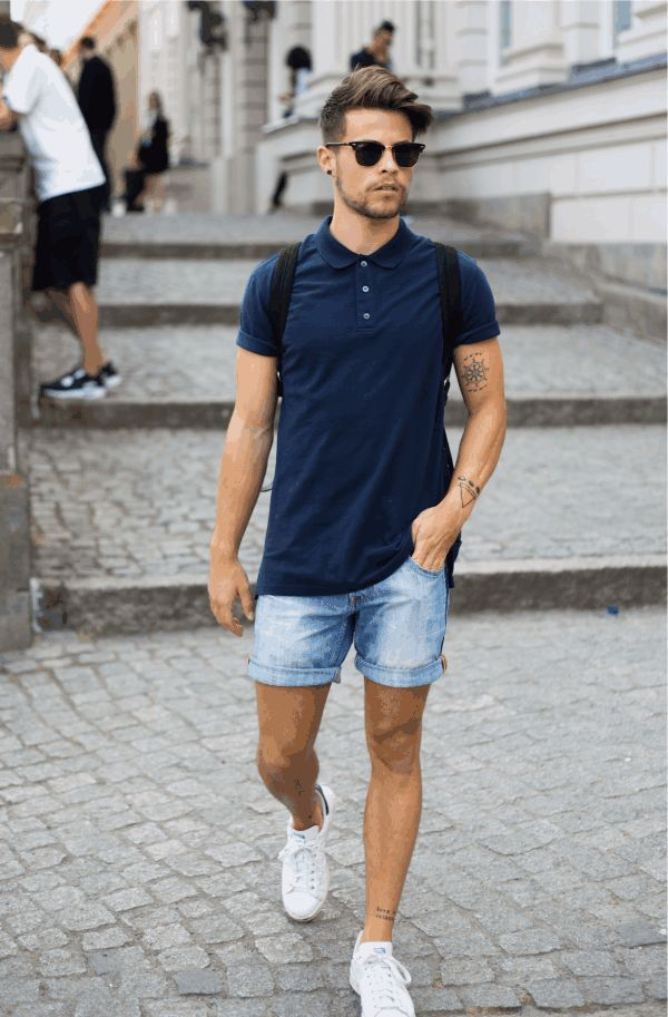 polo tshirt with shorts