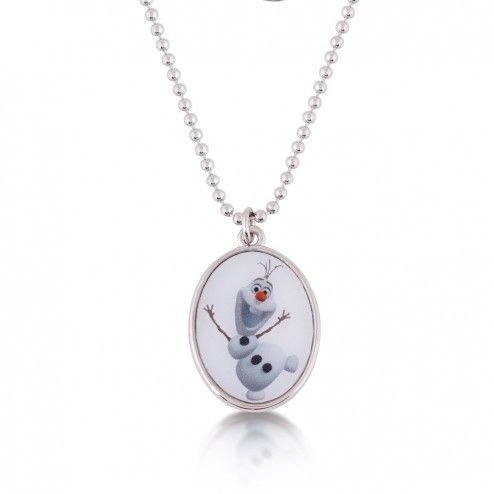 Disney Couture Frozen Olaf the Snowman Cameo Necklace at aquaruby.com