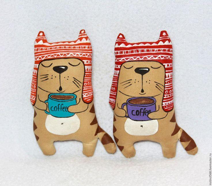 Купить Кофейные котики - коричневый, кофейная игрушка, кофейный кот, кофе, корица, ароматизированная игрушка