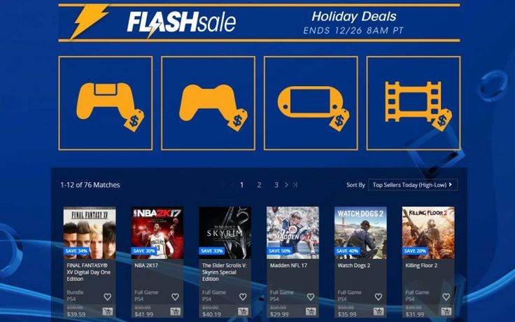 PlayStation Network Holiday Flash Sale now until Dec 26   Sonys PlayStation Network Holiday Flash Sales is live with many games on sale up to 70% off! There are 55 PlayStation 4 games on sale through this weekend as well as 13 PlayStation 3 games 8 PlayStation Vita games and tons of digital movies all on sales. The Flash Sales is separate from their current Holiday Weekly sale going on and is only available through Monday December 26.  Here are some highlights of the sale:  PS4 Final Fantasy…