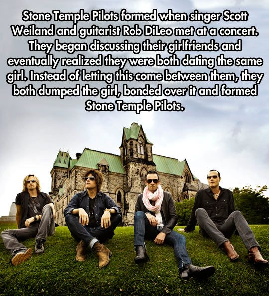 How Stone Temple Pilots came to be. -- Most epic band formation ever. Now I have to go find their music.