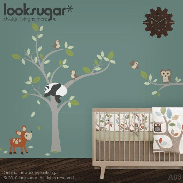 Best Panda Bears Images On Pinterest Nursery Ideas Panda - Bambi love tree wall decals