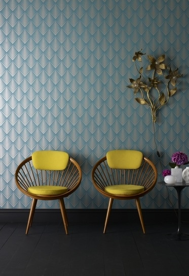 Retro Wallpaper and Chairs