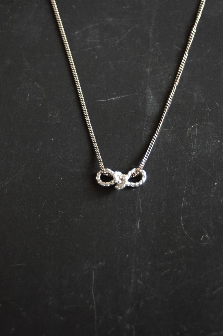 Sterling Silver little Sailors Love Knot necklace.