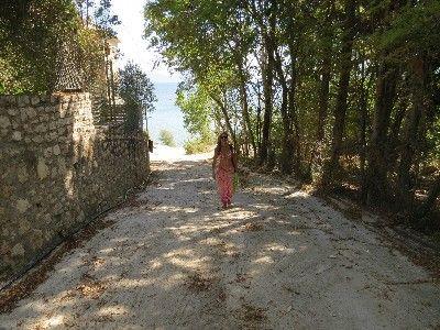 Shaded walk to Pogonia beach - Greece, Ionian Sea