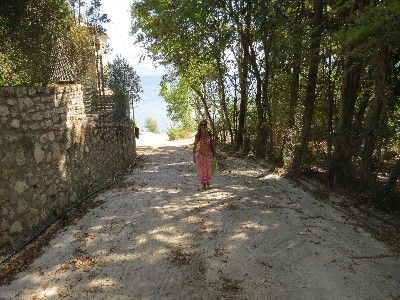 Shaded walk to Pogonia beach - Greece, Ionian Sea
