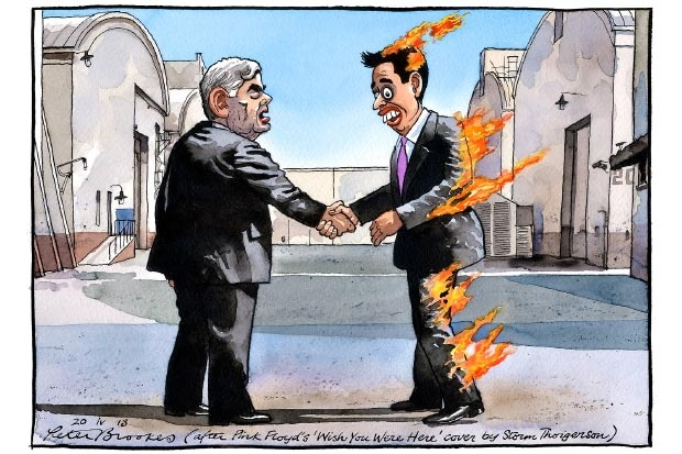 Peter Brookes' take on my favourite album design by Storm