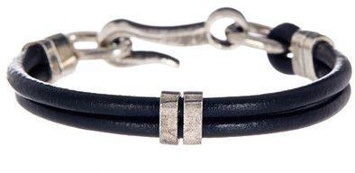 LINK UP Leather Hook Bracelet