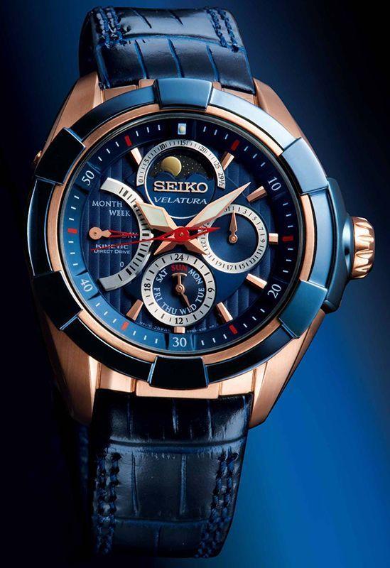 Seiko Velatura Kinetic Direct Drive Moon Phase Watch SRX010P1 Want more follow @Rahim niaz