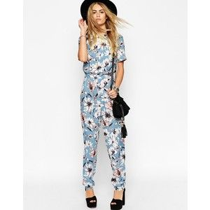 ASOS TALL Floral Printed T-shirt Jumpsuit