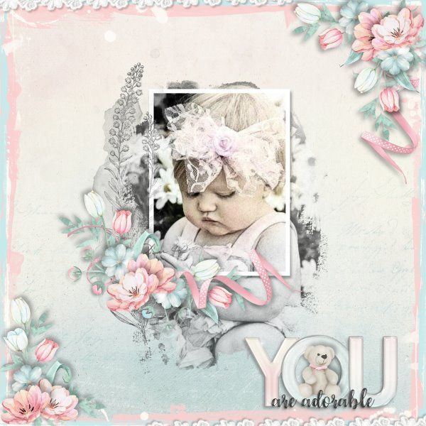 Kit Adorable by Indigo Designs. Fabulous Frames #1 by Heartstrings Scrap Art.