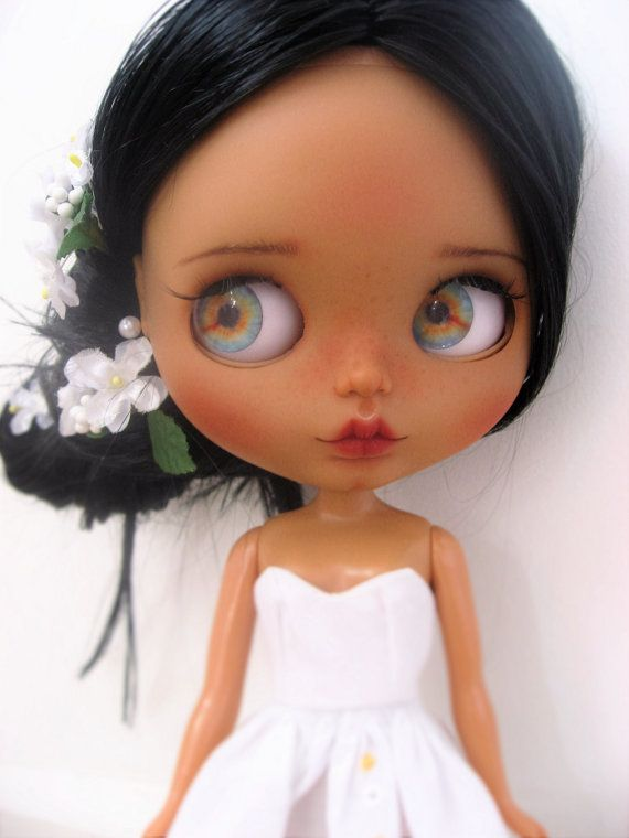 Muñeca de arte Blythe custom OOAK jazmín por por Dollsdujardin