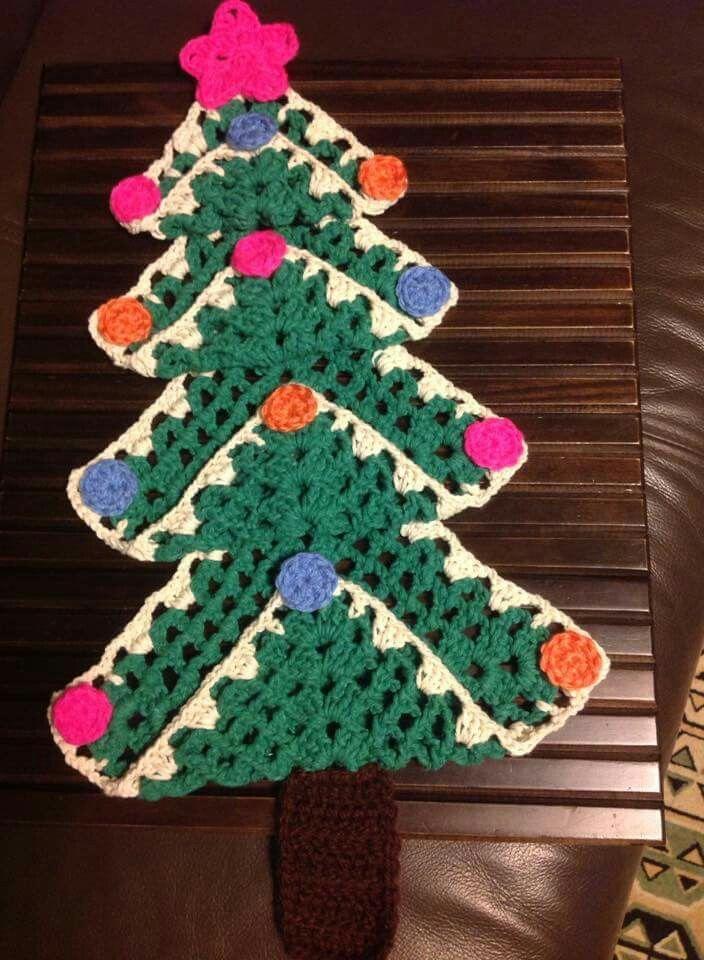 Pinheiro de Natal em crochet.