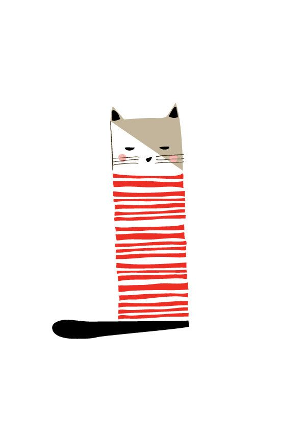 Cat Art Print, Animal Illustration, Drawing, Illustration, Children Room, Kids room, Nursery room Art, home decor, Home interior by dekanimal on Etsy