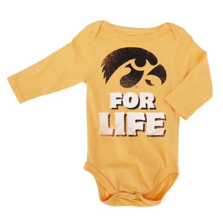 Tailgate Clothing Co. Infant Boy College Vault University of Iowa Fan for Life Bodysuit #VonMaur