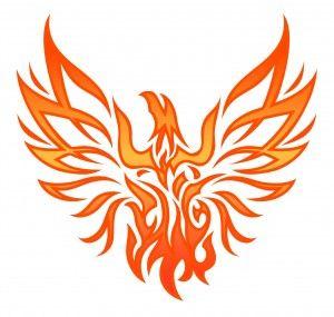 Cute Phoenix bird tattoo for women