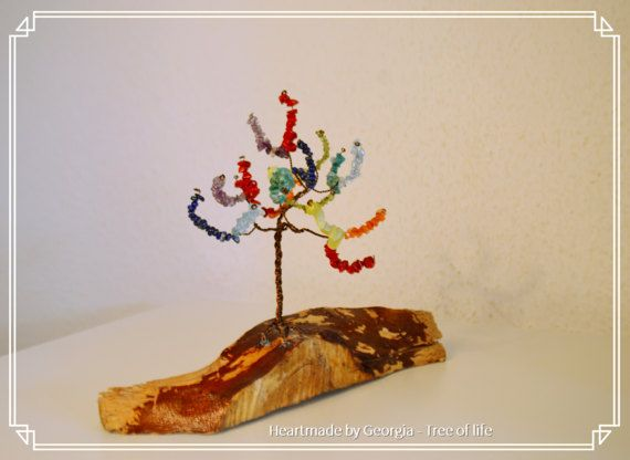 Gemstones tree of life , Tree of life Sculpture, Wire wrapped ...