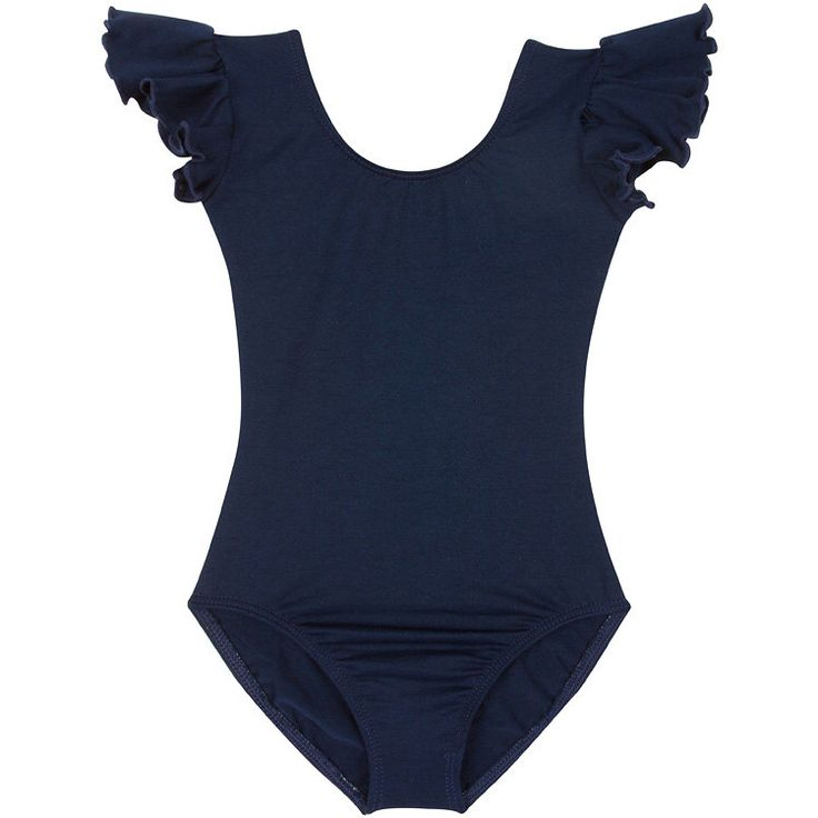 NAVY BLUE Leotard for Toddler & Girls with Flutter / Ruffle Short Sleeve by TheLeotardBoutique on Etsy https://www.etsy.com/listing/200606748/navy-blue-leotard-for-toddler-girls-with