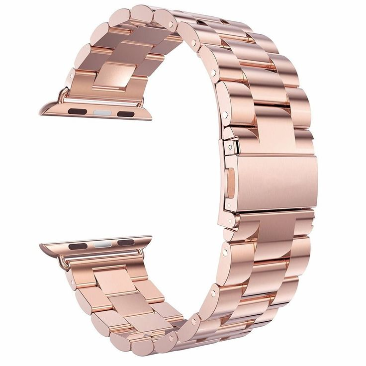 Amazon.com: Apple Watch Band, Pugo Top® Stainless Steel Metal Apple Replacement Watch Wrist Band (Rose Gold 42mm): Cell Phones & Accessories