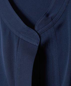 Oversize-Seiden-Bluse Navy
