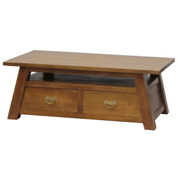 Handmade NES Fine Furniture Solid Mahogany Wood Japanese Coffee Table - 47 inches