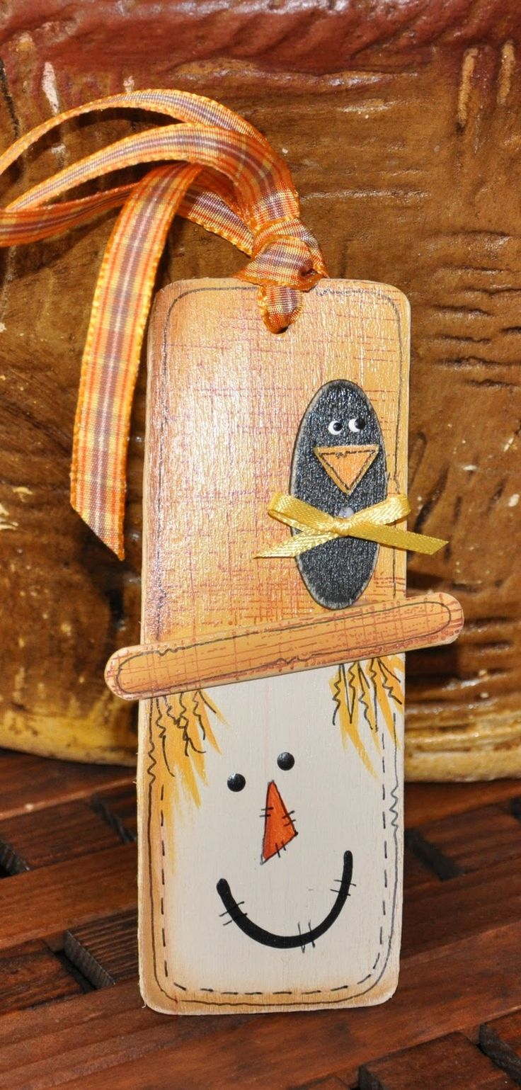 Primitive fall wood crafts - Megpie Designs Just The Crafts