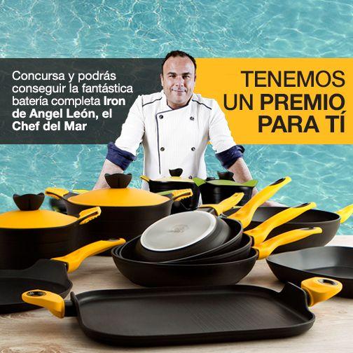 ¡Último día del concurso! Consigue una batería de cocina Iron by Ángel León