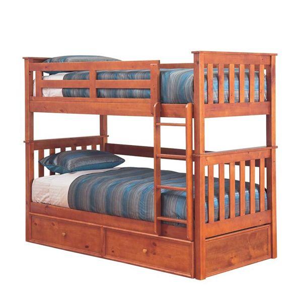 Tilly King Single Bunk Bed - Teak | Beds Online