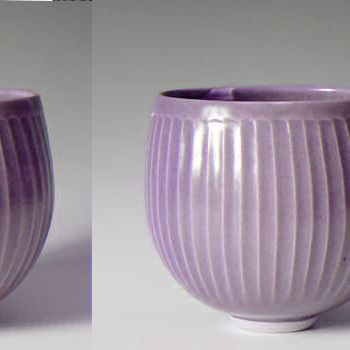 Simon Leach fluted celadon vase