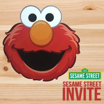 Elmo Sesame Street Invitation with Envelope - WorldWide Free Shipping by Inkspireve on Etsy
