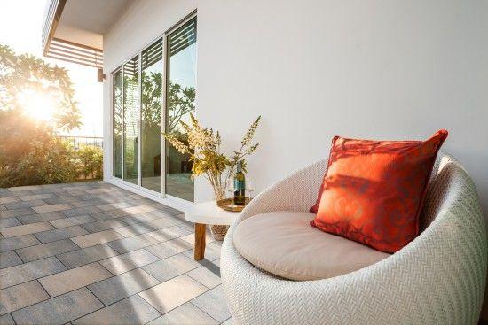 Fürstentum Largo - Terrassenplatten von Kortmann Beton #kortmannbeton #terrasse #design