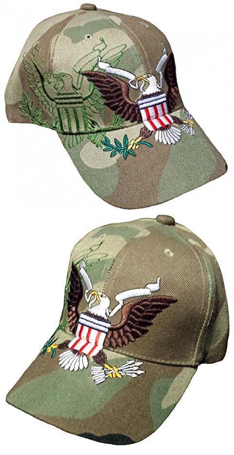 51e7619e26f Patriotic Baseball Cap Camouflage Bald Eagle Camo Hat American Flag ...